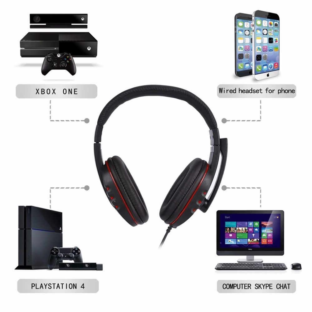 3.5 ミリメートル有線ゲーミングヘッドフォンゲームヘッドセットとマイクボリュームコントロール PS4 プレイステーション 4 PC