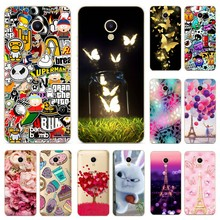 Silicone Cover For Meizu M5S mini Case 5.2' Printing Cool Cat Phone Shells For Meizu Meilan M 5 S 5S M5S Mini Fundas Coque(China)
