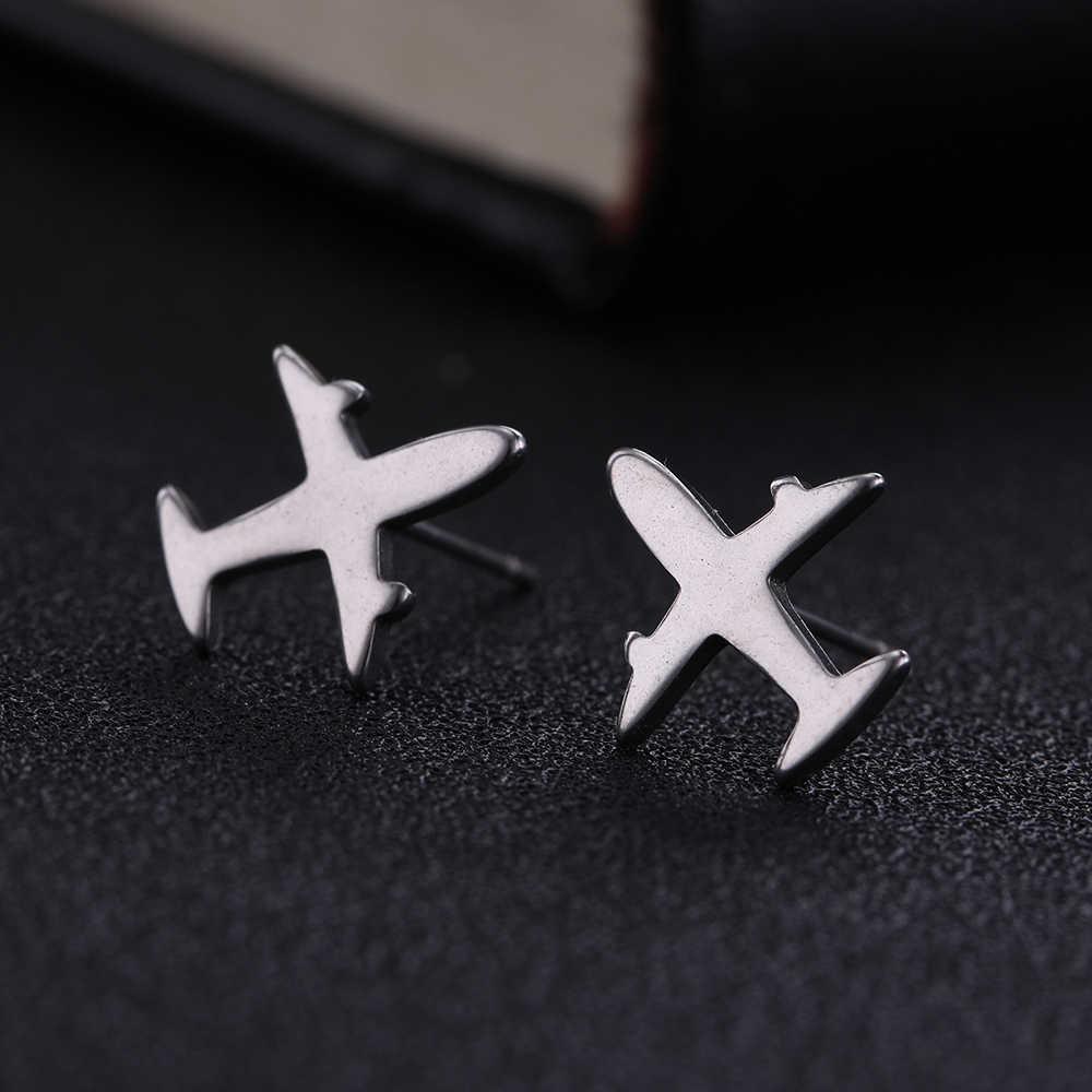 Skyrim Cross เครื่องบิน Chihuahua ขนาดเล็กต่างหูแคคตัส Mini Ear Stud ต่างหูแฟชั่นเครื่องประดับของขวัญหญิง