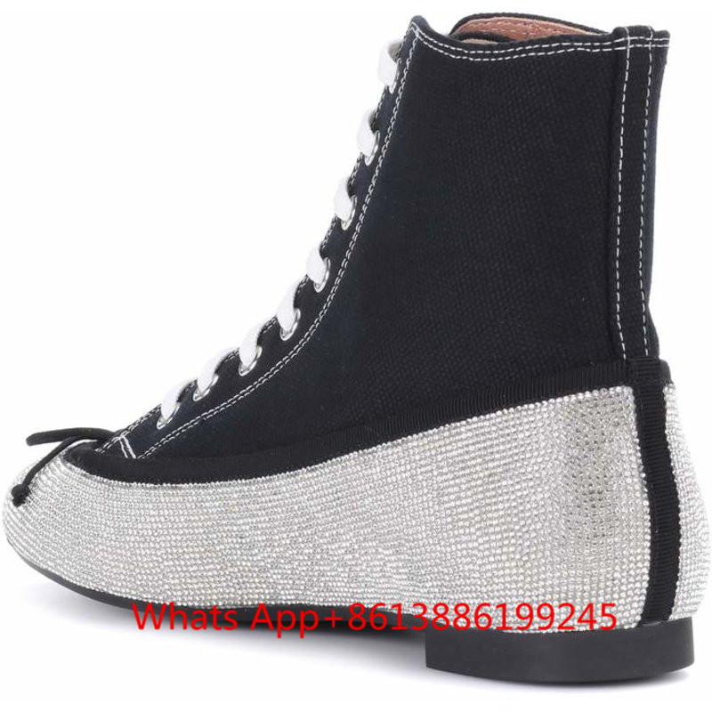 Bowtie Classic Zapatos Designer Strass Sneakers Femmes Espadrilles Mujer Lace Top no Up Fur Appartements Casual Inside High Toile Chaussures Cristal Inside 4FcOA4rpW