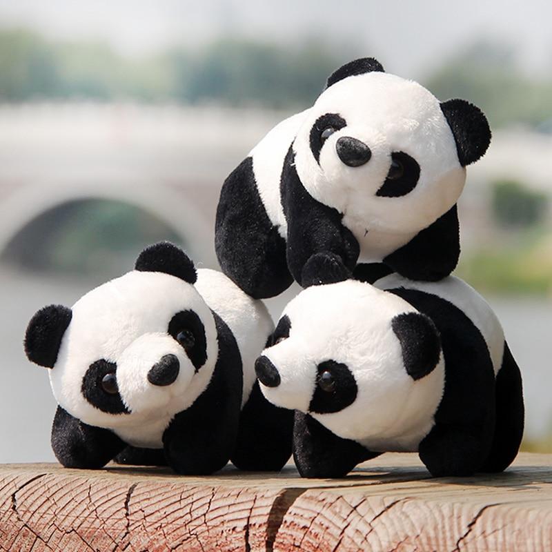 1 PC 22cm Lovely Super Cute Stuffed Stand Panda Kid Animal Soft Plush Panda Gift Present Doll Toy For Children Birthday