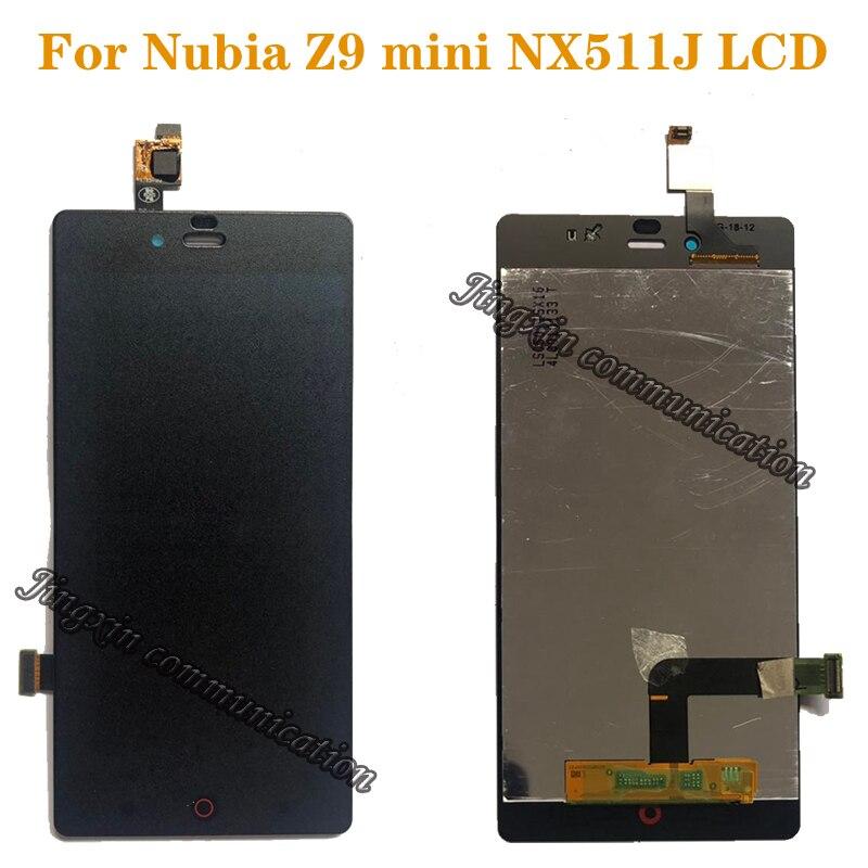 Жк дисплей для ZTE Nubia Z9 mini NX511J, кодирующий преобразователь сенсорного экрана в сборе, замена для ZTE Nubia Z9 mini nx511j, запчасти для дисплея