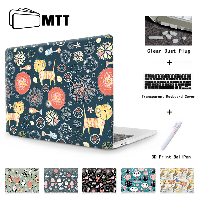 MTT Laptop bag Case For Macbook Air 13 For 2016 Mac Pro 13 Pro 15 with Retina 12 Touch Bar Print Kitten bird bear illustration ...