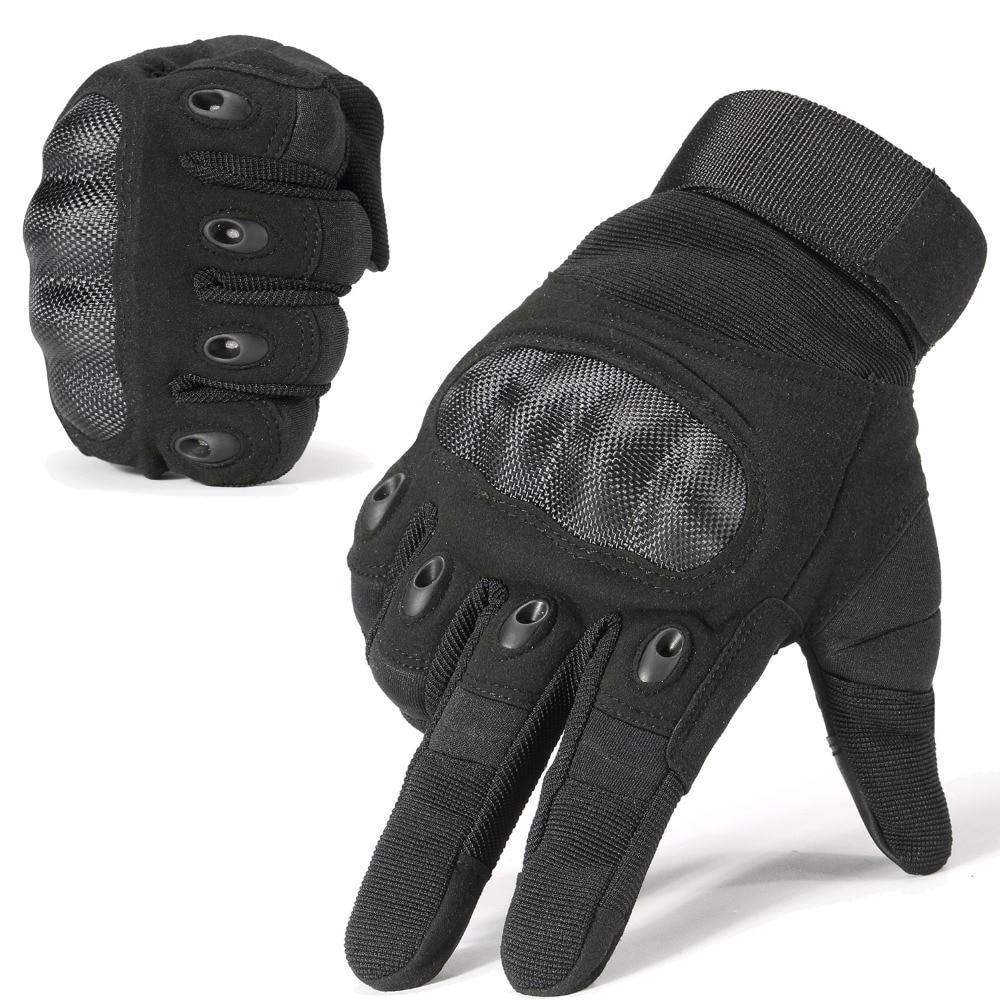 Nueva Marca Tactical Gloves militar ejército Paintball Airsoft Shooting policía carbono Hard Knuckle Combat completas guantes del dedo para el hombre