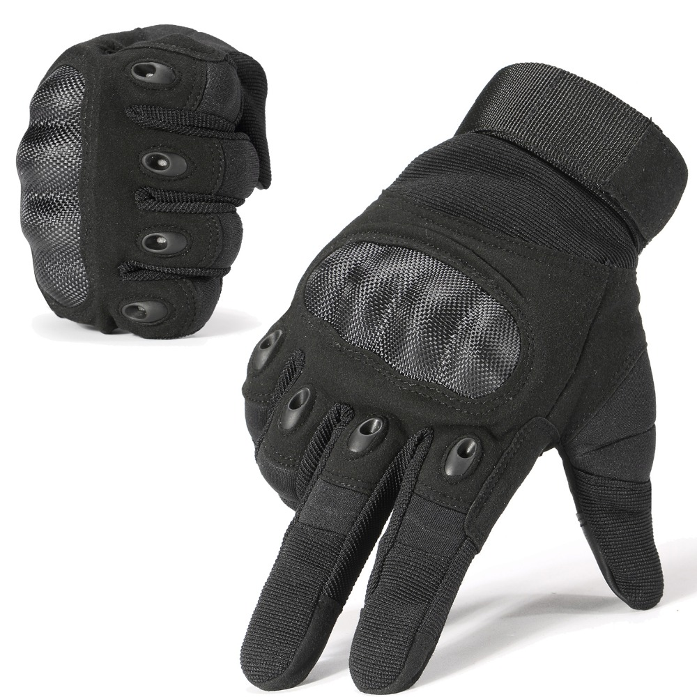 Nuevos guantes tácticos de la marca militar del ejército de Paintball Airsoft Shooting policy Carbon Hard Knuckle Combat guantes de dedo completo para hombre