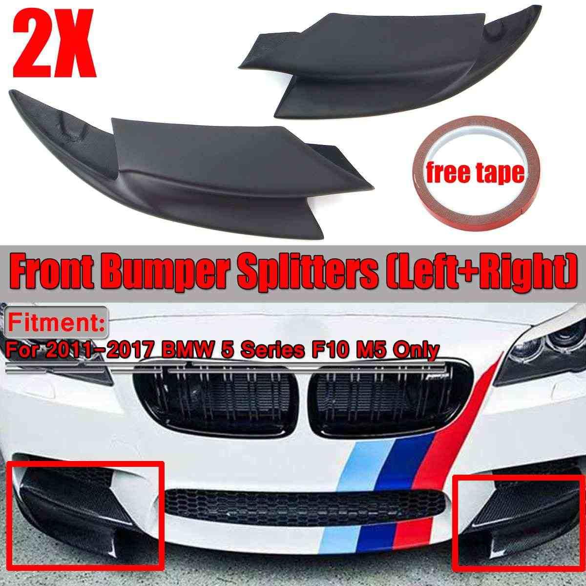 UNA Coppia F10 M5 Auto Paraurti Anteriore Splitter Del Labbro Del Corpo Kit Spoiler Per BMW Serie 5 F10 M5 2011 2012 2013 2014-2017 Paraurti Auto Lip