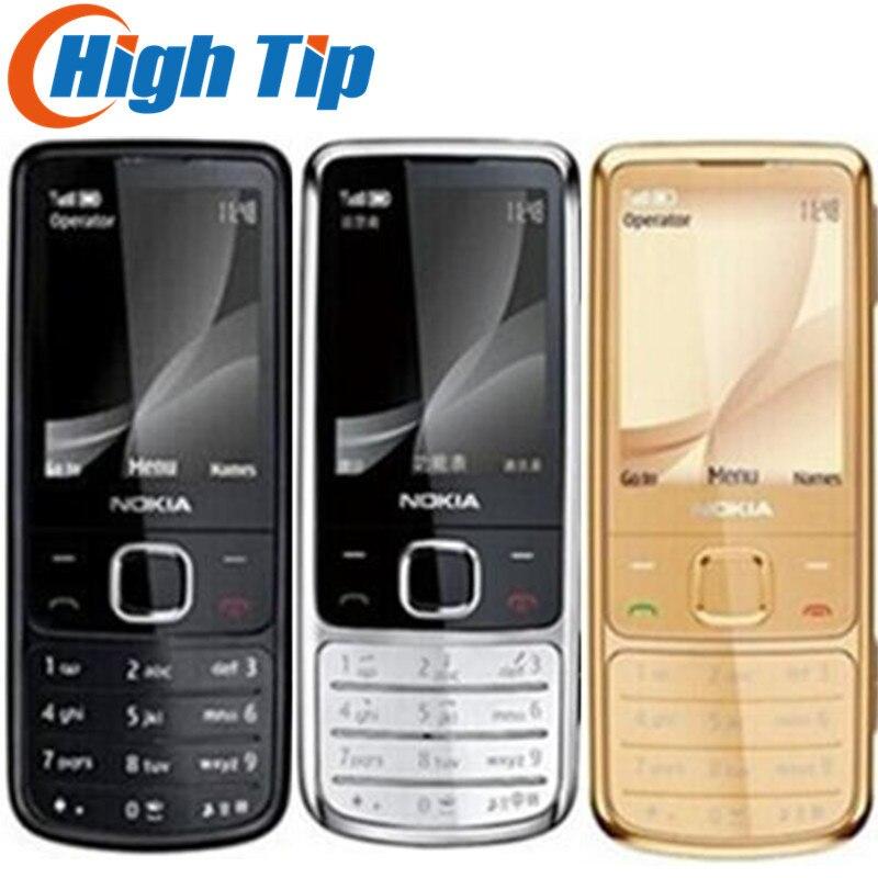 Vente chaude Nokia Original Débloqué 6700C 6700 Classique Or mobile Téléphones 5MP étui en cuir gratuit Russe Clavier Livraison Dropshipping