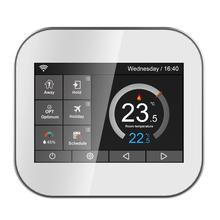 Купить с кэшбэком Wifi color touch screen thermostat for water heating/boiler with English//Polish/Czech/Italian/Spain by android IOS phone