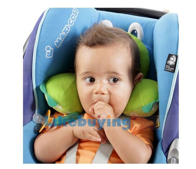 2014 Newest baby car headrest / baby sleeping headrest / baby head cover cartoon seat covers Free shipping