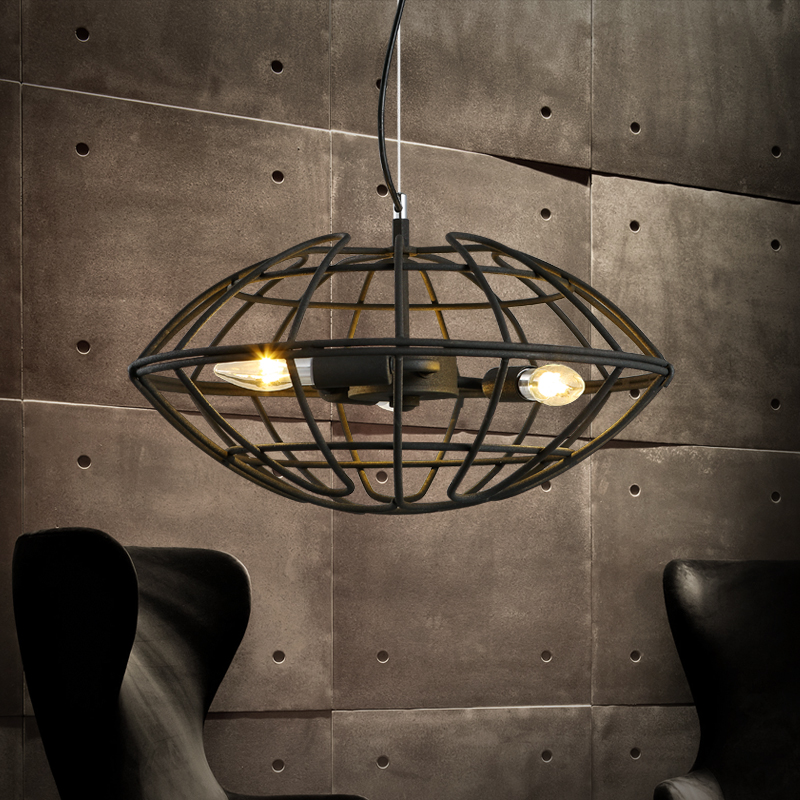 Loft retro industrial wind cage American factory office creative personality Restaurant Bar Pendant Lights Pendant lamp LO81810 restaurant bar cafe pendant lights retro hone lighting lamp industrial wind black cage loft iron lanterns pendant lamps za10