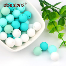 TYRY.HU 20Pcs 12mmR Silicone Beads Colorful Bead Baby Teething DIY Jewelry Bracelet Crib Toy Perle Խաղալիք սննդի դասարան