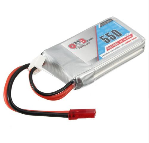 Kingkong FPV ET125 Racing Drone Spare Part 7.4V 550mAh 80C Lipo Battery Rechargeable JST Plug Connector For RC Models
