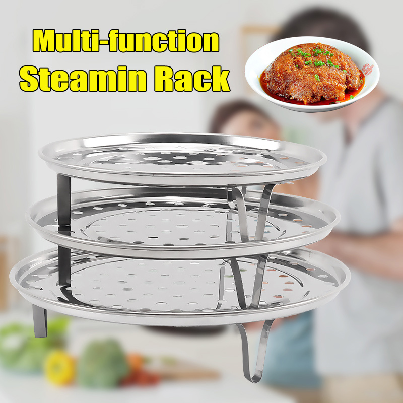 Steamer Shelf Rack Stainless Steel Stand Pot Steaming Tray Cookware Kitchen Accessories J2Y