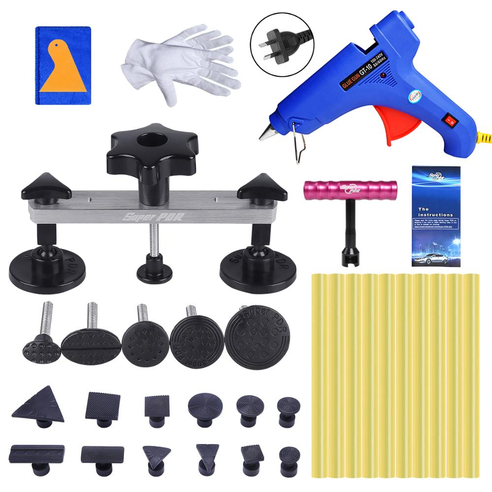 Super PDR Tools Kits Hot Adhesive Glue Sticks For Hot Glue Gun AU Plug Paintless Dent Repair Tools Auto Dent Pullers Suction Cup 1pc glue pot 100g italian keratin glue keratin glue bead hot pot glue stove temperature control hair extension styling tools
