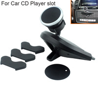 Rotary Magnetic CD Player Slots Mobile Phone Car Holders Stands For Nokia 5 Oukitel U116 Max