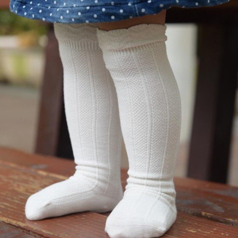 Cute Cotton Baby Knee Socks White Lace Baby Girl Socks Newborn Long Tube Boys Girls Knee High Socks Toddler Leg Warmers Bebe