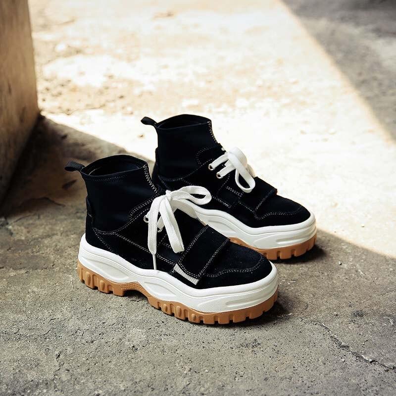 Noir Mode Zapatos Marque Mujer Automne Nouveau Noir Chaussure Baskets Casual De Dame Femmes Loisirs 2018 Haut Chaussures bleu qYZwtxO