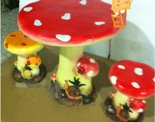 Resin furniture suite Parure creative fashion personality mushroom ...