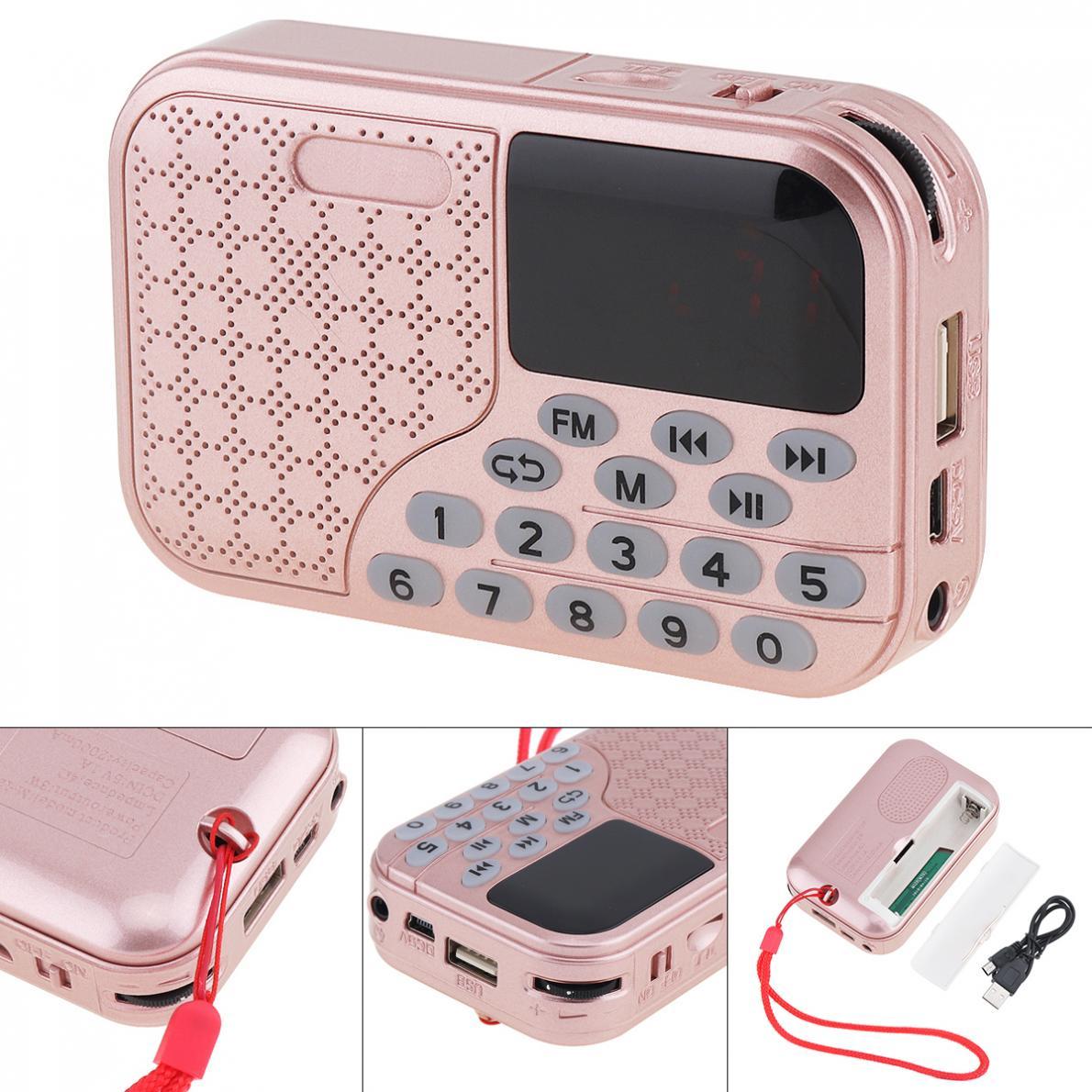 Unterhaltungselektronik Herzhaft E55 Tragbare Radio Mini Audio Karte Lautsprecher Fm Radio Mit 3,5mm Kopfhörer Jack Für Home/outdoor Farben Sind AuffäLlig