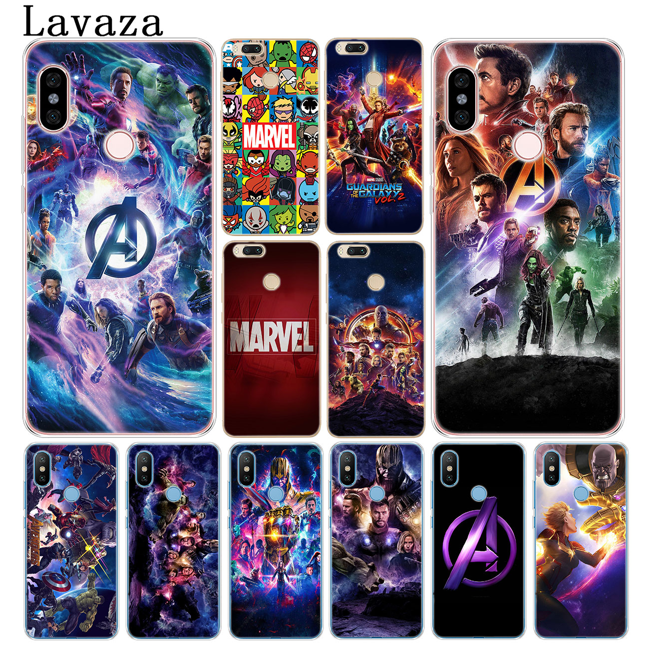 Lavaza Avengers Endgame <font><b>Marvel</b></font> Captain America Phone <font><b>Case</b></font> for <font><b>Xiaomi</b></font> <font><b>Redmi</b></font> K20 8A 7A 5A 6A <font><b>Note</b></font> 8 7 5 6 Pro <font><b>4</b></font> 4X Cover image