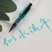 Каллиграфия мягкое перо портативная ручка-кисть для каллиграфии ручка шерсть ласки небольшая обычная для письма ручка добавить чернила жи...