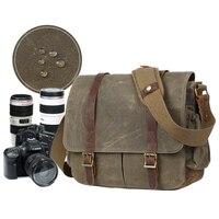 LXH Canvas Camera Shoulder Bag Multi functional DSLR Bag handbag For Nikon Canon Sony Fuji DSLR Vintage Waterproof Camera case
