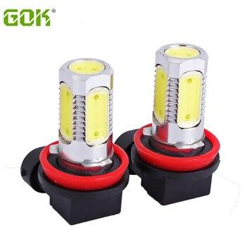 10pcs External Lights H11 7.5w High Power Led h7 h11 9006 9005 Car Bulb Front Headlight Fog Light Driving  Running Light