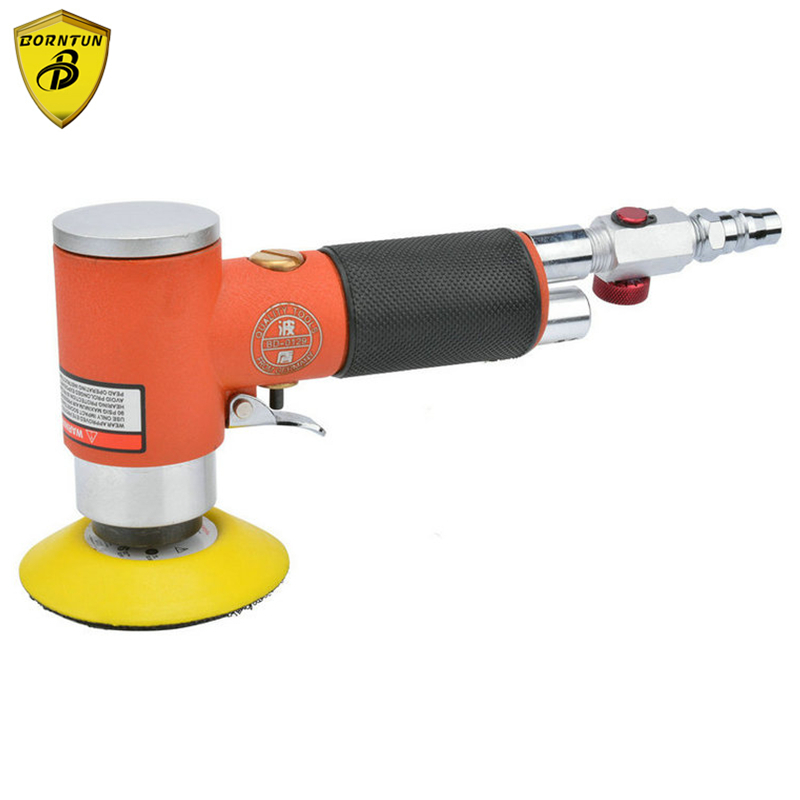 Borntun 3 Air Sander Eccentric Pneumatic Air Sander 3 inches Eccentric Pneumatic Air Polisher for Car Polishing Furniture Metal 5 inch 125mm pneumatic sanders pneumatic polishing machine air eccentric orbital sanders cars polishers air car tools