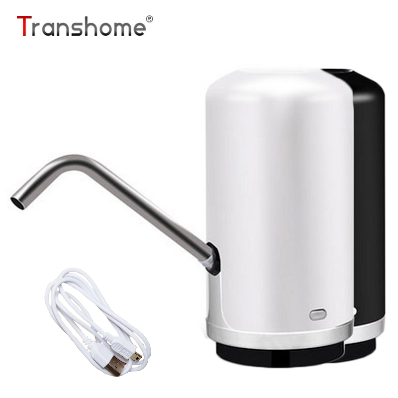 Transhome Water Bottle Electric Pump Tap For Water Bottle Black Hand Pump Bottle Tea Water Dispenser Suction Bottle For Drinking Бутылка