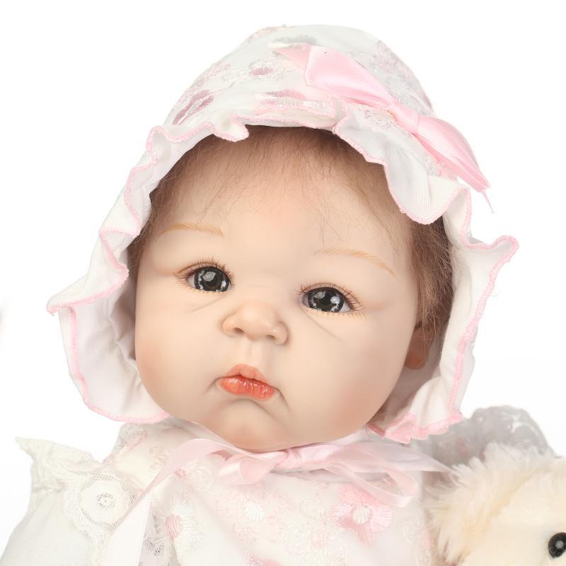Oyuncaklar ve Hobi Ürünleri'ten Bebekler'de NPK Bebek Reborn Bebekler Yumuşak Silikon El Yapımı Bez Vücut Reborn Bebekler oyuncak bebekler Çocuklar için Çocuklar için En Iyi Hediyeler Brinquedos'da  Grup 3