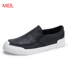 MEIL New Design 2018 Spring Men Shoes Leather Sapatos Male Driving Loafers men Casual Homens moccasins flat shoes