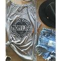 2017 tops vessos t shirt sem mangas mulheres verão carta impressão Fêmea solta O Pescoço Tee Casual Tops Colete Harajuku Macio tumblr