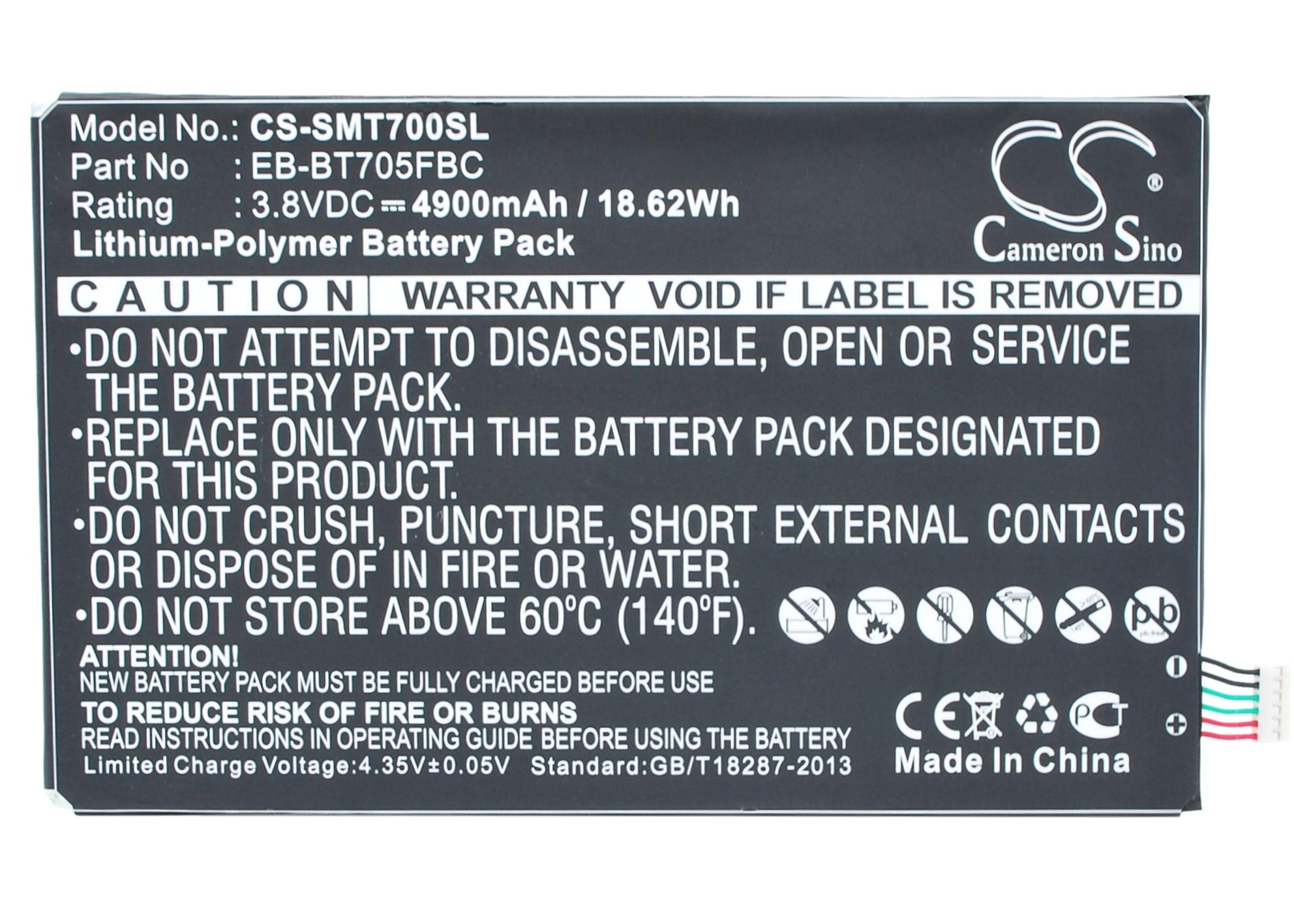 Cameron Sino 4900mAh Battery EB BT705FBC for Samsung SM T700  SM T705  SM T705C  SM T705D SM T705M T705Y  T707 T707A T707D T707V Digital Batteries     - title=