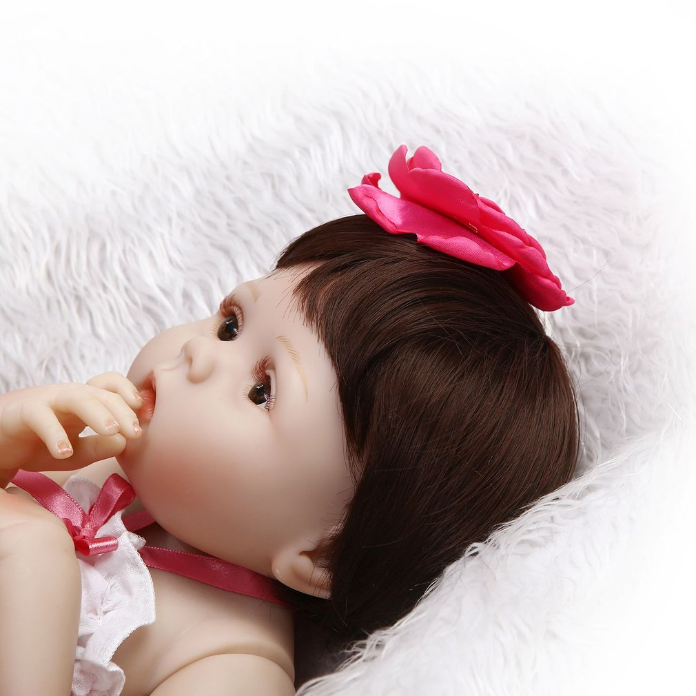 56cm Full Body Soft Silicone Vinyl Baby Doll kids Babe Reborn handmade doll Playmate Gift Non-toxic Safe Toys Simulation Toys 50 55 56cm baby doll babe reborn cloth body soft silicone vinyl baby doll toy playmate gift for girl safe handmade baby doll toy