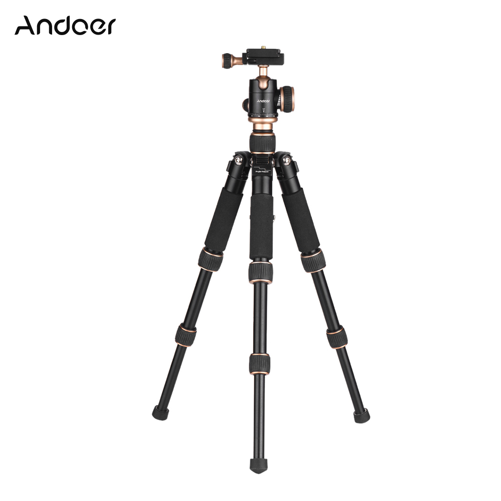 Andoer 53cm Travel Portable Mini Tabletop Tripod with Ball Head Quick Release Plate for Canon Nikon