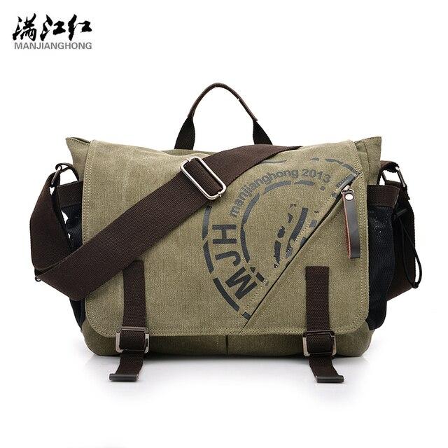5e55e83e6178 MANJIANGHONG Vintage Fashion Men s Shoulder Bag Canvas Messenger Bags Male  Business Crossbody Bag Printing Travel Handbag Tote