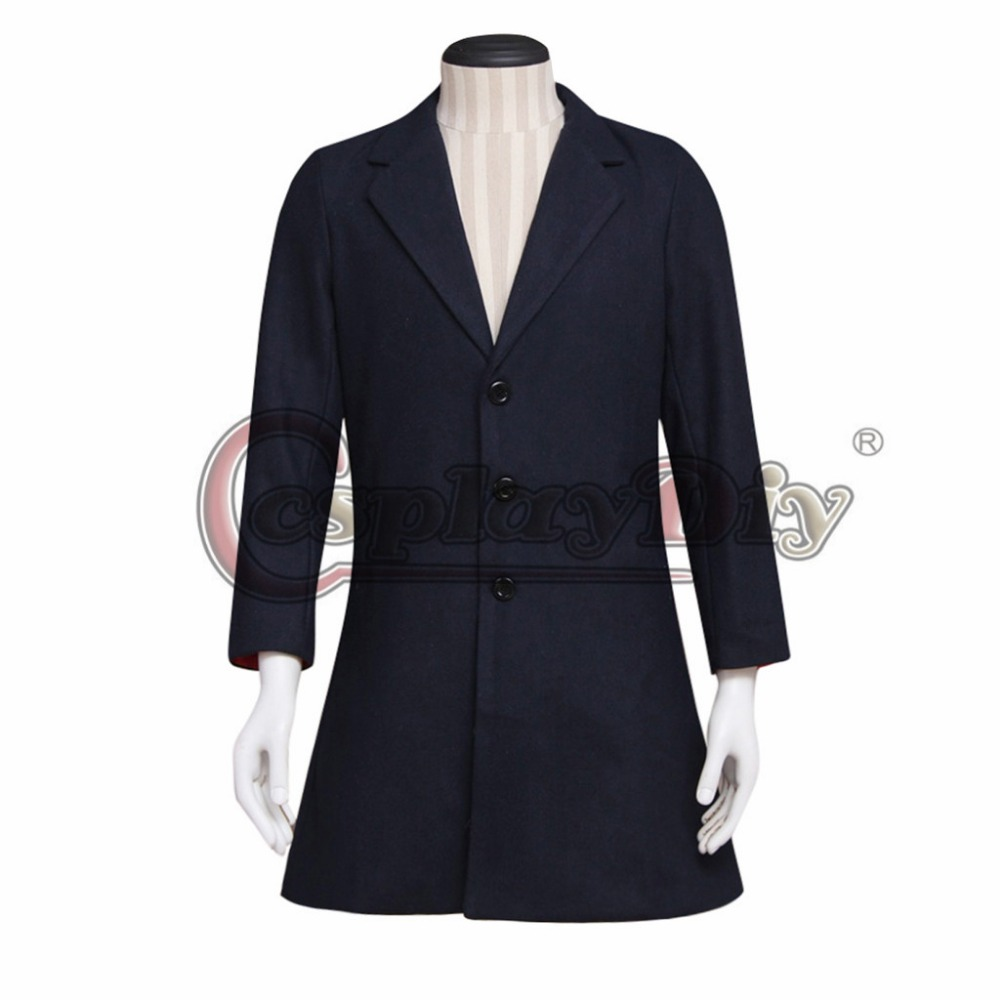 Cosplaydiy Doctor Who Cosplay Dr. Navy Blue Frock Coat Adult Halloween Carnival Cosplay Costume Custom Made J5