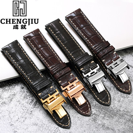 Crocs Alligator Leather Watch Band For Longines/Master For Law/Grand For Magnificent Retro Watch Straps Bracelet Belt 19 20 21mm longines часы купить в москве