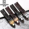 Crocs alligator leather watch band para longines/master para a lei/grand para magníficas retro pulseiras de relógio pulseira cinto 19 20 21mm