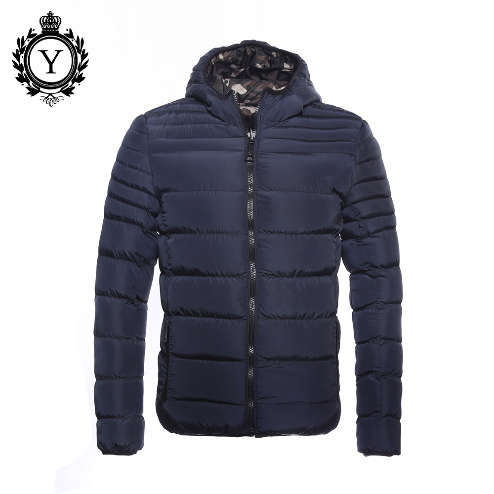 ФОТО COUTUDI Campera Hombre Invierno 2016 Men Winter Coat Revisible Camouflage Thick Parkas Mens Down Jackets Windbreaker Blue Jacket