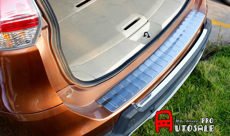 For Nissan X-trail T32 Rogue 2014 2015 Stainless Steel Exterior Outer Rear Bumper Guard Plate Cover Trim 1pcs/set