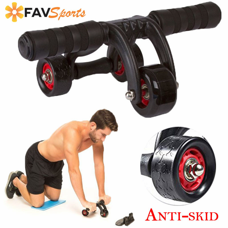 3 roues sans bruit roue abdominale AB Roller Fitness entraînement musculaire Crossfit exercices bras jambe force engrenage rouleaux