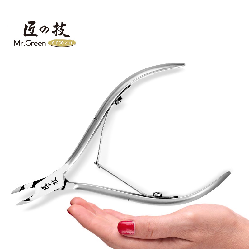MR. GREEN Dead Skin Cuticle Nail Clipper Cuticle Nipper Cutter Pedicura de acero inoxidable herramienta de uñas de tijera para el ajuste