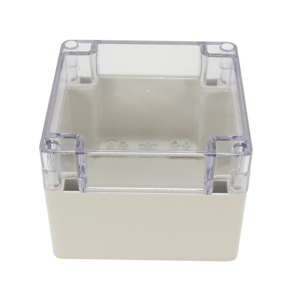120mmx120mmx90mm ABS Junction Box Universal Project Enclosure w PC Transparent Cover