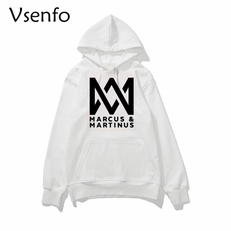 Marcus And Martinus Hoodies Men Women Pullover Thin Crewneck Sweatshirt Street Style Tumblr Pop Band Hoody Unisex Brand Clothes