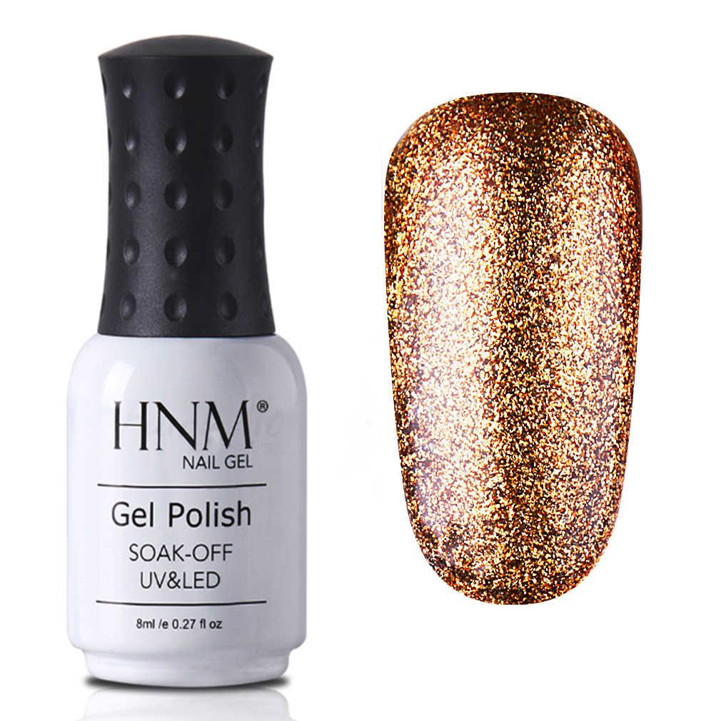 HNM 8 ml בלינג ציפורניים ג 'ל פלטינה UV מנורת LED ג' ל לק ארוך האחרון ג 'ל לכה היברידי צבע Gellak מזל לכה 34 צבעים