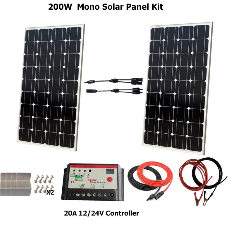 200W flexible Solar Panel Cell Module for Yacht Car Home Charger EU//USA//CA stock