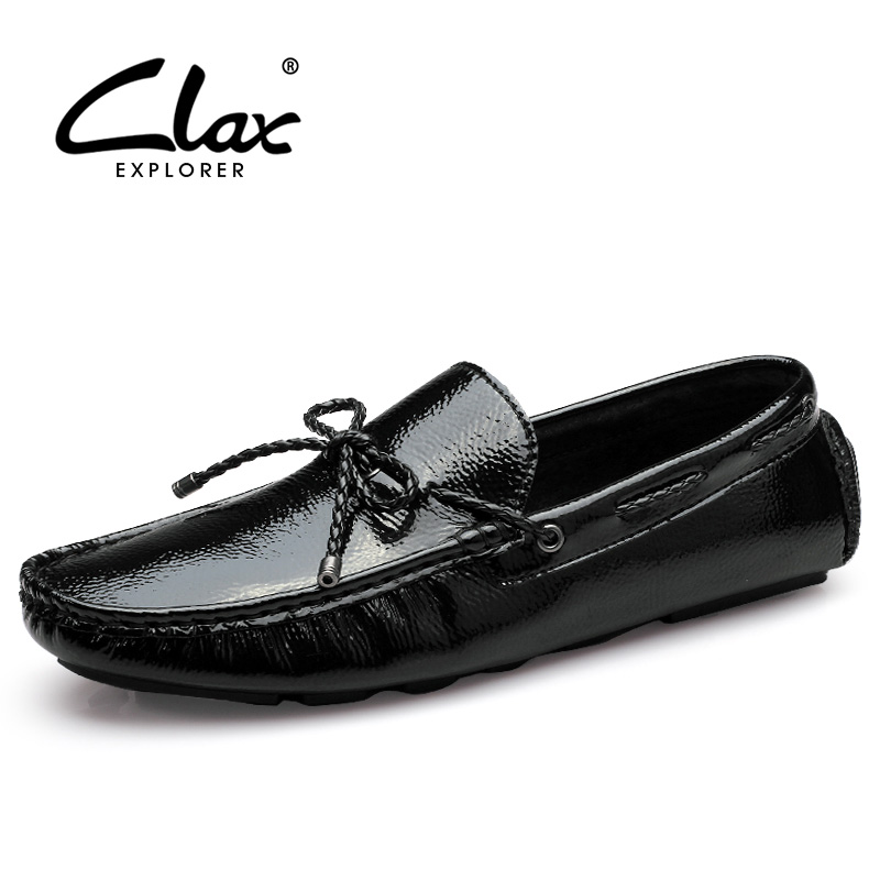 CLAX Men's Fashion Leather shoes 2017 Summer Autumn Casual Loafers For male Flat Boat Shoe Slip on Moccasin Soft Comfortable clax men shoes luxury brand loafers genuine leather male driving shoes slip on black dress shoe moccasin designer classical