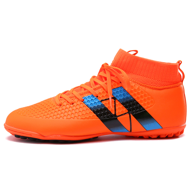 Men Football Boots TF Futsal Turf Soccer Shoes Adult Cheap Indoor Sock  Cleats Sport Professional Training Sneakers 5c5ea427dc621