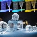 300 LED 3 M x 3 M Cortina de la Secuencia de Hadas Enciende la Fiesta de Navidad de La Boda Decoración Del Jardín blanco cálido/frío blanco/azul/RGB envío libre
